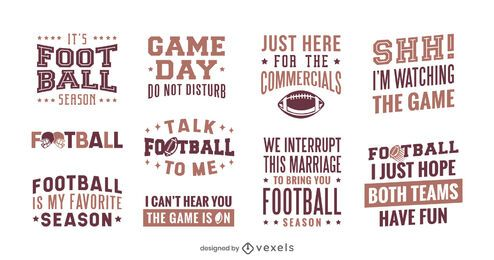 Football season lettering set