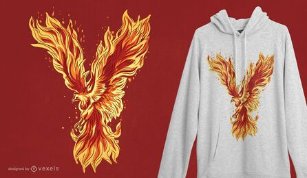 Phoenix creature t-shirt design