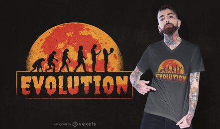 Gruselige Evolution T-Shirt Design
