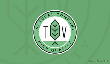 Modelo de logotipo natural da empresa