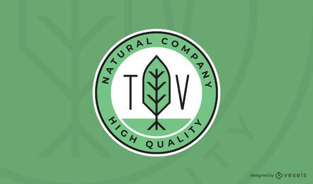 Natural company logo template