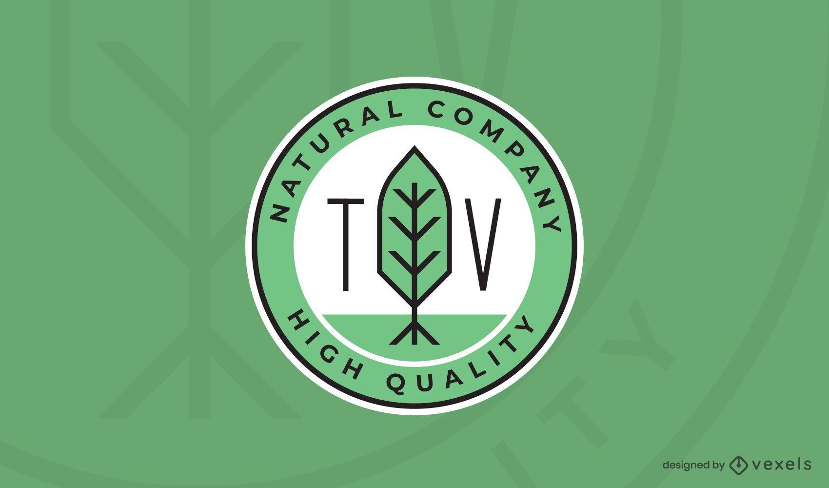 Natural company logo template