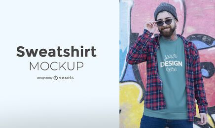 Man sweatshirt mockup design