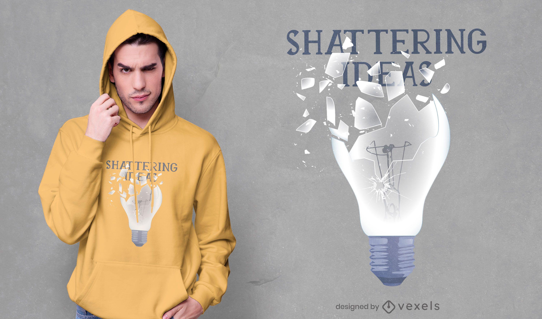 Shattering ideas t-shirt design