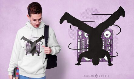 Design de camiseta breakdancing