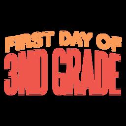 Letras do primeiro dia da 3ª série