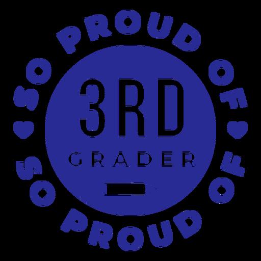 3er grado orgulloso del diseño de círculos