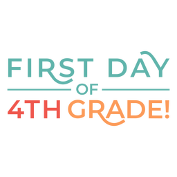 4th grade first day lettering design