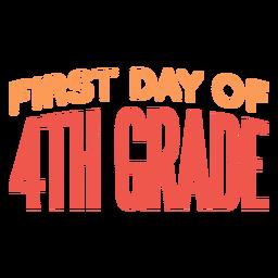Cotización del primer día de clases de cuarto grado