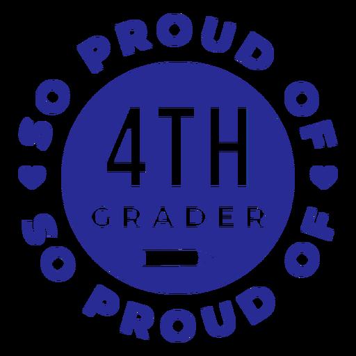 4º ano com orgulho do design Transparent PNG