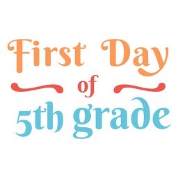 5th grade first day lettering design
