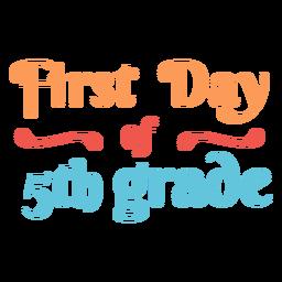 Design de letras do 5º ano, primeiro dia