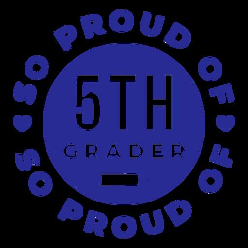 5to grado orgulloso del diseño