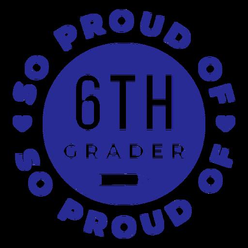 6to grado orgulloso del diseño