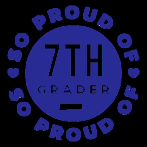 7º ano com orgulho do design Transparent PNG