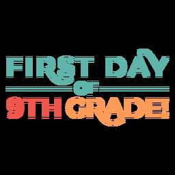 Citação colorida do primeiro dia do 9º ano