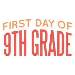 Diseño de escuela de primer día de noveno grado
