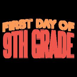 Projeto da escola do primeiro dia do 9º ano
