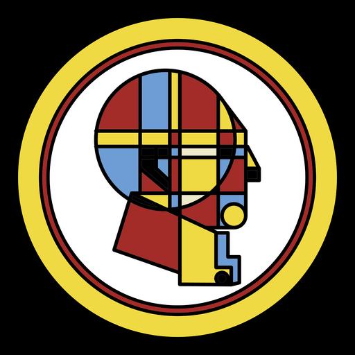 Desenho abstrato da cabeça do homem