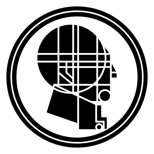 Abstract man head rounded design