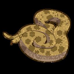 Anaconda snake flat design