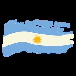 Desenho da bandeira pincelada da Argentina