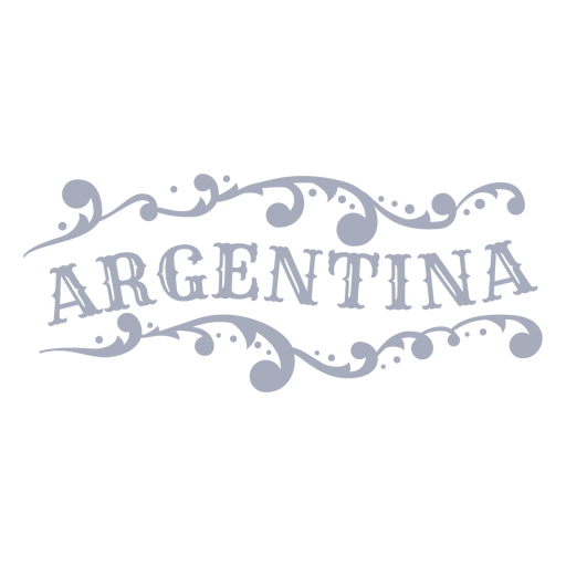 Diseño de adorno de insignia de país de Argentina