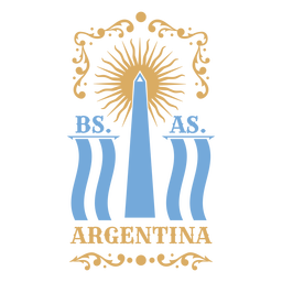 Argentina monument traditional badge