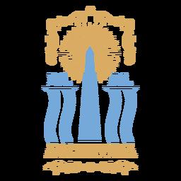 Insignia tradicional del monumento de Argentina