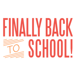 Back to school finally lettering