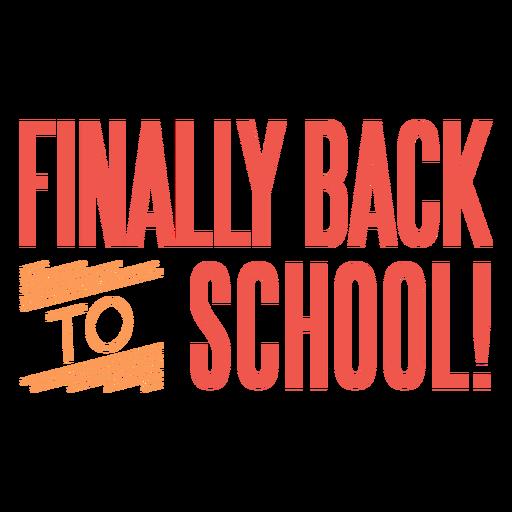 Regreso a la escuela finalmente letras