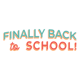 Back to school lettering design