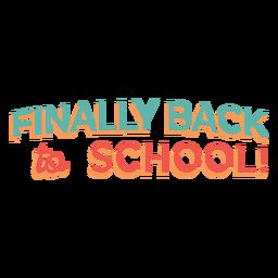 Design de letras de volta às aulas