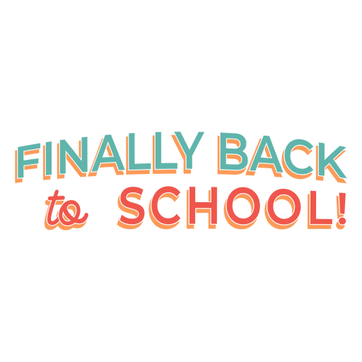 Back to school lettering design Transparent PNG