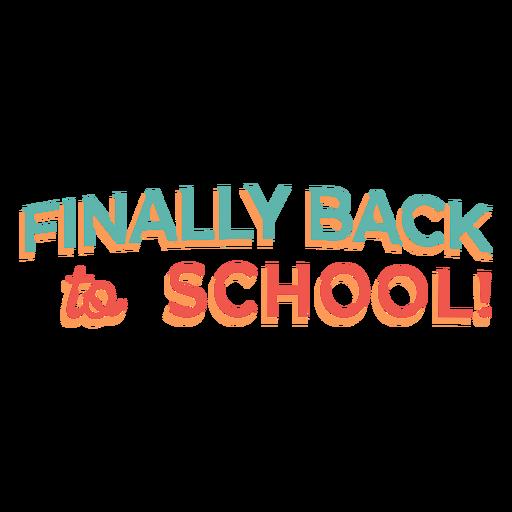 Diseño de letras de regreso a la escuela
