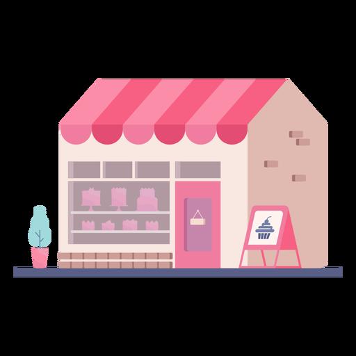 Bakery store building flat design
