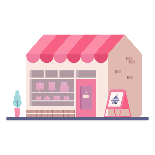 Diseño plano de edificio de tienda de panadería