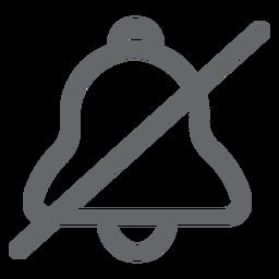 Campana de icono plano