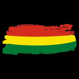 Desenho da bandeira em pincel da Bolívia