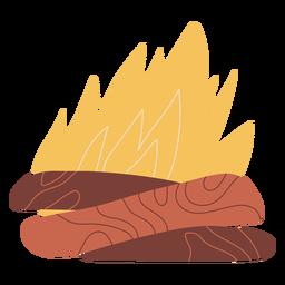 Diseño de ilustración de hoguera