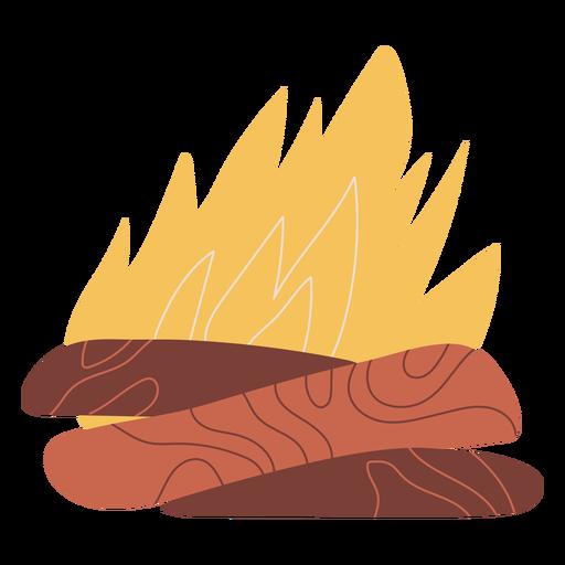 Bonfire illustration design