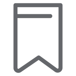 Bookmark icon flat design