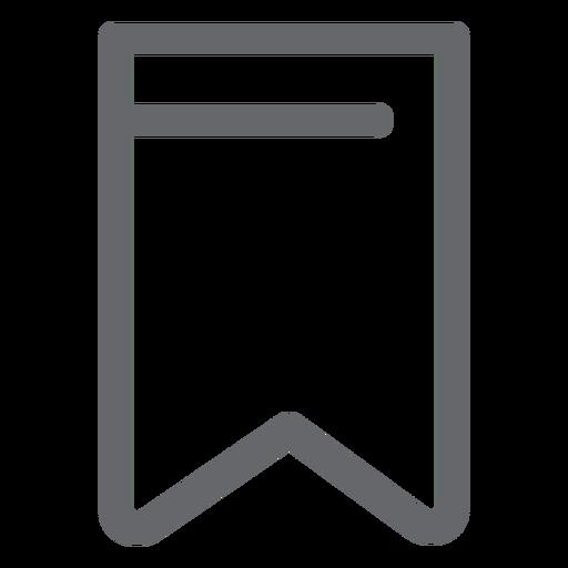 Bookmark icon flat design Transparent PNG