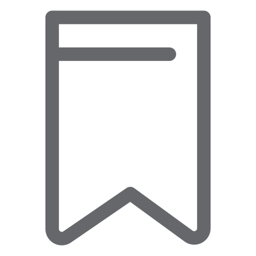 Design plano do ícone de favoritos