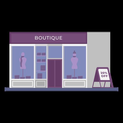 Edificio boutique tienda plana