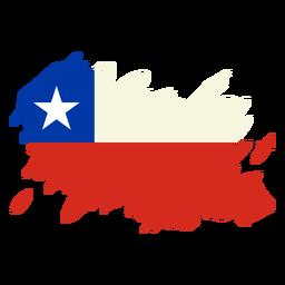 Desenho da bandeira em pincel do Chile