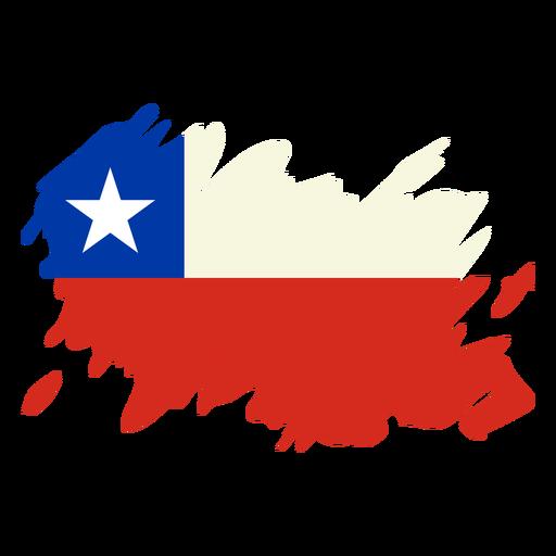 Dise?o de la bandera de Chile Brushy