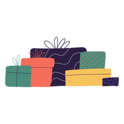 Christmas gifts box illustration