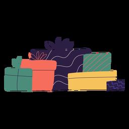 Ilustração da caixa de presentes de Natal