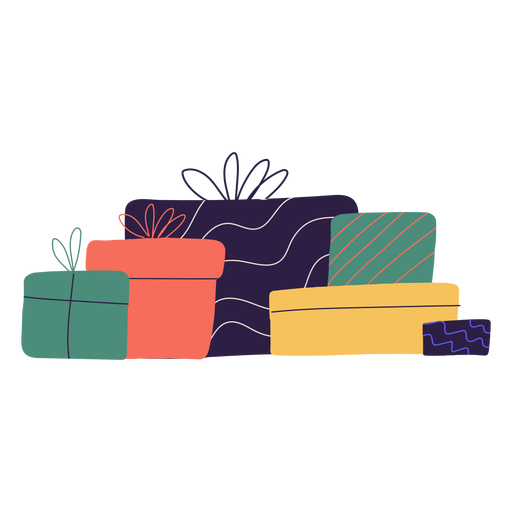Christmas gifts box illustration Transparent PNG